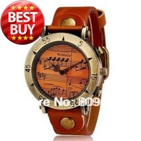 WOMAGE 568-1 Women's Musical Note Round Dial Analog Display Wrist Watch (3 Color)