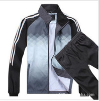 Wholesale 2013 addas new gradient men long sleeve sports leisure suit,Free shipping