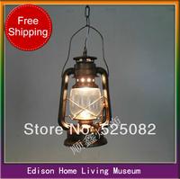 Lighting fashion vintage tieyi brief american style kerosene lamp mastlight aisle lights stair pendant light
