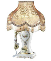Fashion resin luxury white home table lamp telephone with caller id  available creative  home decoration