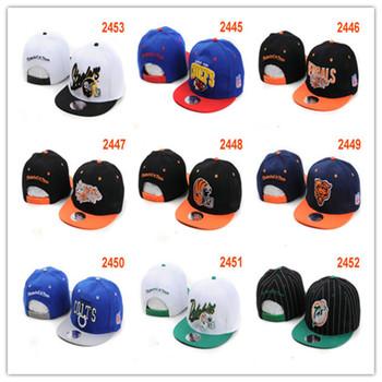 Free Shipping Wholesale 6pcs/Lot American Football Snapback Hats 5 Panel Caps Casual Adjustable Cotton Baseball Caps