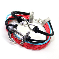 2014 women nice Fashion accessories fashion bracelet anchor 8 alloy bracelet female b196