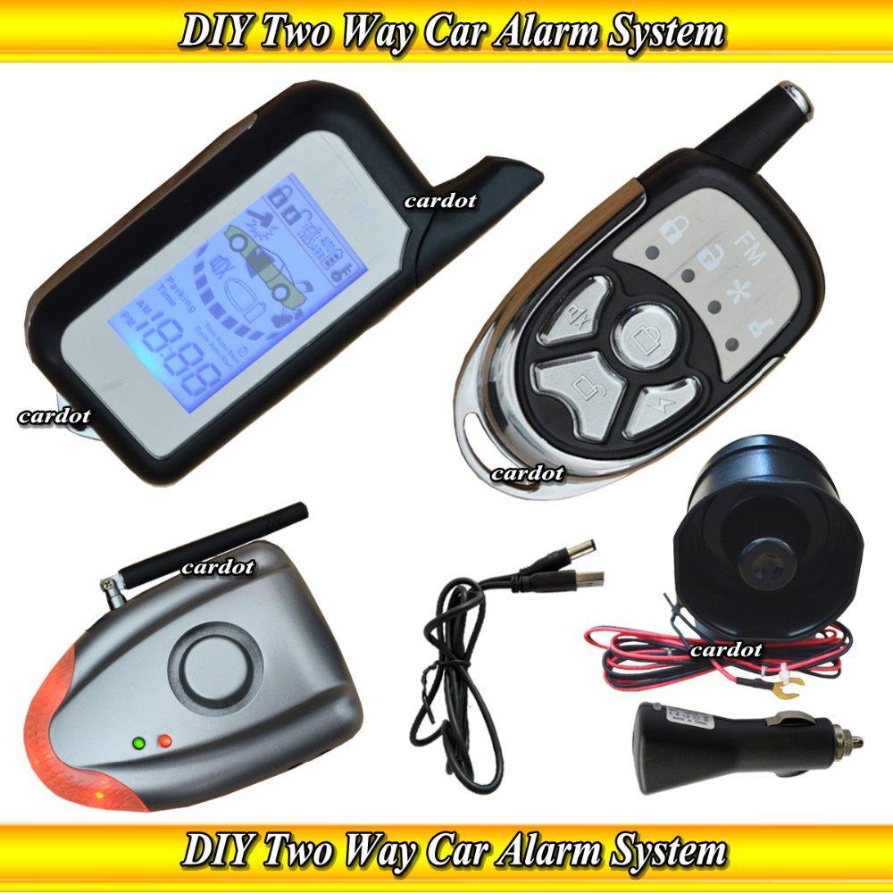 Two Way Learning Diy Car Alarm,two Way Car
