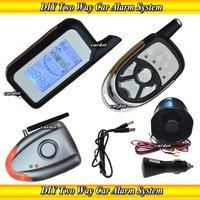 NEW DIY car alarm,two way car alarm,shock sensor,air pressure sensor,wireless learning siren,easy to install,no cutting wire
