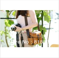 Free Shipping retro leather shoulder bag, camera bag    free shipping