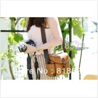 Free Shipping retro leather shoulder bag, camera bag    free shipping