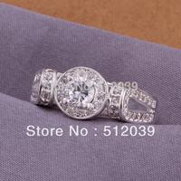 Shiny Zircon & 925 Silver plated female finger rings Swiss Crystal Ring Lover's Gift Romantic Ring Birthday Gift FREYA/R176