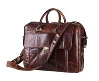 100% Genuine Leather men Messenger Bags Handbag business 15 inch laptop bags Briefcase Leather Men travel bag 2015 tote shoulder