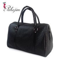 2013 fashion handbag Bags  women's handbag  black woven  large bag  free shipping