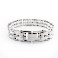 Fashion Trend ceramic Bangle/Bracelet  for lovers,316L stainless steel plus ceramic beads,2 colors