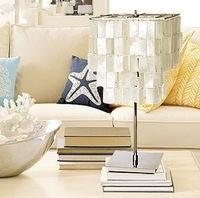Free Shipping Modern-style White Shell Table Light/ Table Lamp 90002