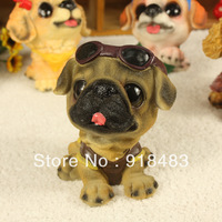 Free shipping (6 pieces/lot) Household creative gifts resin crafts mold simulation animal ornaments dog cool dog summer