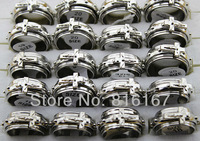 Free shipping  Fashion Jewelry Wholesale 50pcs  cross Ratotion white stainless steel men rings s1035
