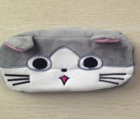 5PCS Kawaii NEW Chi's CAT Plush Pen Pencil BAG Pouch Case Holder BOX ; Coin Purses & Wallet BAG Pouch Cosmetics Beauty BAG Case
