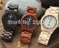 New Male watch Nature Wooden watch men's luminous calendar Prevent allergies watch waterproof sandal series
