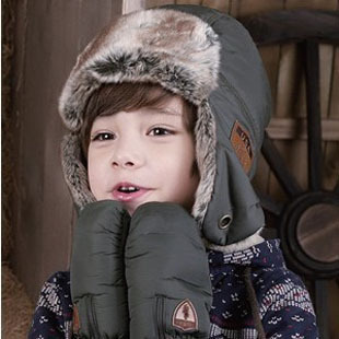Handsome Winter Baby Earflap Caps Child Warm Hats Kids Pilot Hat Beanie Cap For Baby 2-8 years Free Shipping(China (Mainland))