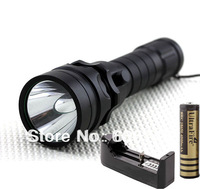 Free shipping 1set 1800 Lumen CREE XM-L T6 LED Waterproof Diving Flashlight Torch Lamp +Battery Charger