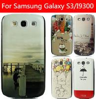 21 species pattern black side cover case for Samsung Galaxy S3 case Galaxy S3 cover samsung I9300 case