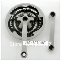 Chain wheel and crank used at Mountain bikes 28T/38T/48T Free shipping