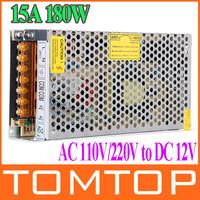 AC 110V 220V to DC 12V 15A 180W Voltage Transformer Switch Power Supply for Led Strip & Led billboard  free shipping