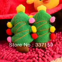 2013 New arrival! Free shipping plush pet toy for dog and cat teeth super soft christmas trees style toys for pets playing