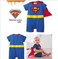 Hot Sale 2014 NEW Superman pattern swimwear babys girls boys one piece bathing suits lovely swimsuit 2T,3T,4T,5T Free Shipping