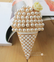 Min.$15 (Mixed Order) Ice Cream Cone Charms Cell Phone DIY Alloy Decoration With Free Shipping