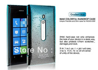 In stock IMAK raindrop back hard case for Nokia Lumia 800 cover, with retail package + screen protector Free shipping/jennifer