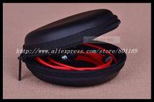 earphone leather case  EVA case Bluetooth Headset case EVA pocket good quality BLACK COLOR(China (Mainland))