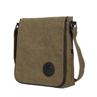 European men style canvas leather messenger bags cross-body travel bags 6 colors K15