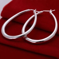 Free shipping 925 sterling silver jewelry earring fine classical egg hoop earring wholesale and retail SMTE080