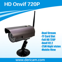 Dericam HD MegaPixel 720P H.264 Outdoor Wireless IP Camera H216W ,Onvif,Support TF Card