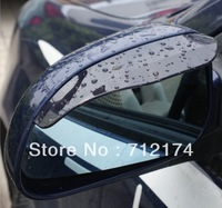 New Smart Flexible Plastic Car Rear view mirror Rain Shade Guard Water Sun Visor Shade Shield Black