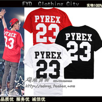 Pyrex Vision GD 23 Kanye West Mans Fashion Pyrex Clothing  Digital Pyrex Shorts T-shirt short-sleeve Sports tee shirt FF