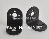 2x Aluminum L bracket type mount for Robot servo joint DIY robot Arm car black
