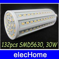 Super Bright SMD 5630 LED Corn Bulb Light Lamp E27 40W 4000LM 132 leds LED Bulbs Lamp AC 210V -240V Free Shippin