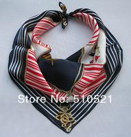 53x53cm american flag silk scarf  souvenir 100% silk pocket scarf  free shipping