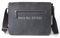 2013 cattle vintage crazy horse leather men's messenger bag cowhide casual school bag man bag 1067