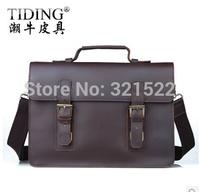 Cattle man bag fashion vintage crazy horse leather male handbag briefcase one shoulder cross-body genuine leather dual-use
