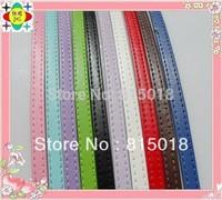 50 strips 8mm wide / 1metre length PU Leather belt fit for slide letters DIY bracelet