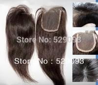 Wennie's 4'' X 4'' Full Lace Closure 8''-18'' Straight 100% Chinese Human Hair Closure Handmade 1B# 1# Nactural black