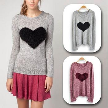 Pattern Jumper Sweater Knit Top Lady Soft Knitwear Crewneck Free