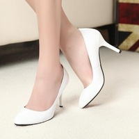 2014 classic OL work  casual women high - heeled shoes 8 cm size 34--- 44 Free shipping