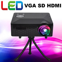 Cheapest !! 100lumens Native 320 X 240 Multimedia Portable projector led mini home theater projectors with USB HDMI VGA AV SD