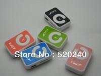 Free Shipping Large Supply 100pcs/lot Clip Music Player Beautiful Gift MP3, Stylish MINI Card MP3 Player