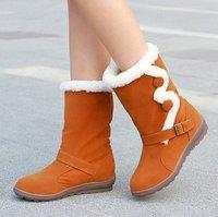 Free Shipping Newest fashion Imitation Imitation the lambs wool high heel boots, women's boots XLU2902