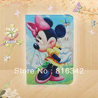 Newest Character For ipad Mickey Leather Case Rotation Leather Case 360 Rotating Leather Case For ipad 2 3 4 Mini Free Shipping