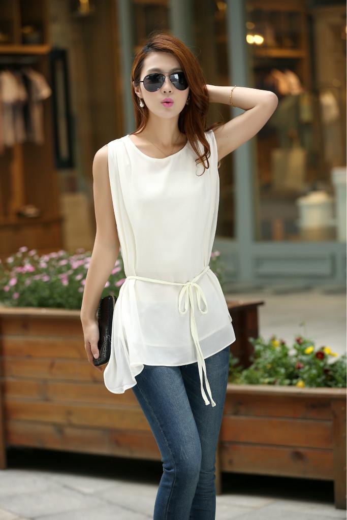 quente venda atacado de tamanho grande shirt blusa senhoras deixar dois conjuntos de chiffon blusa camisa t- camisa menina sweater(China (Mainland))