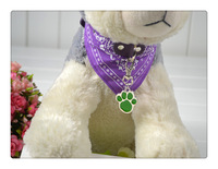 Free Shipping New Pet Dog Tag Cat Tag Many Designs Dog Paw design Random Color sent