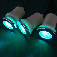 4pcs color changing RGB waterproof led bathroom light with 1pc light controller 1pc transformer